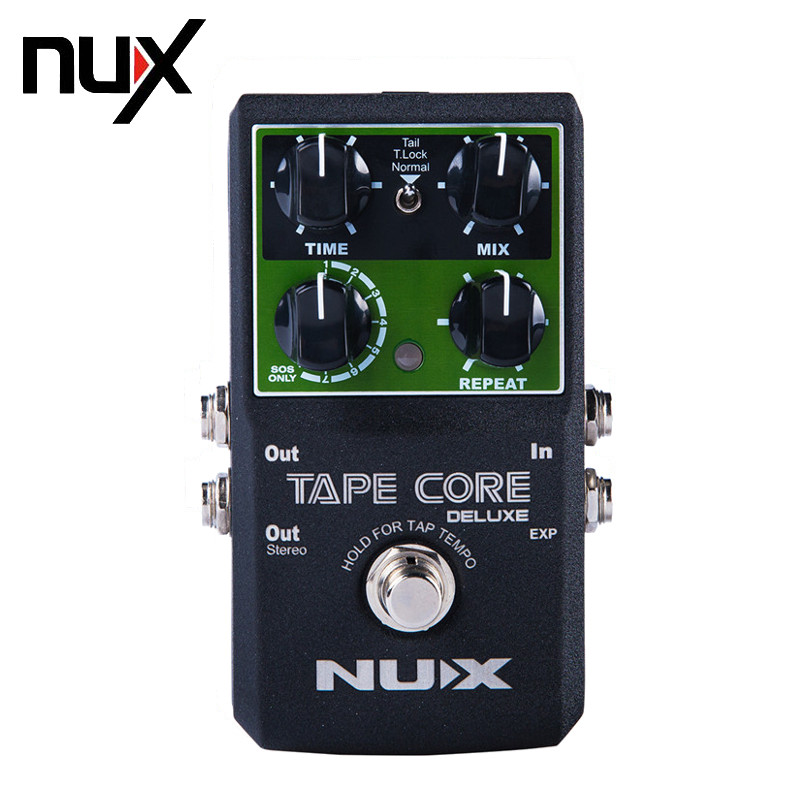 NUX Tape Core Deluxe New Arrival Guitar Effect Pedal Tape Delay Effector True-bypass USB Update Firmware Effects Free Shipping mooer ensemble queen bass chorus effect pedal mini guitar effects true bypass with free connector and footswitch topper