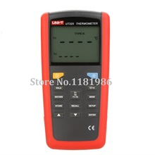 UNI-T UT325 Digital Thermometer Temperature Meter T1-T2 Dual Input with High/Lower Alarm & Auto Calibration Tester Thermostat