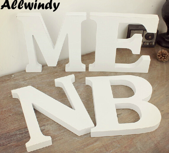 free shipping standing white wooden letter big size alphabet a z to choose wedding props shop decor
