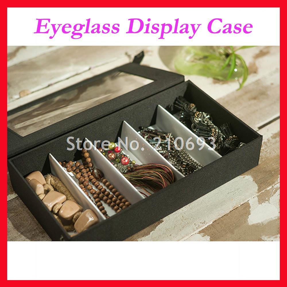 5A livraison gratuite couvercle transparent lunettes optique cadre lunettes de lecture lunettes de soleil vitrine boîte tenir 5 pièces de lunettes