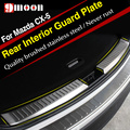 High Quality Stainless Steel Inner  Rear Bumper Protector Sill Trunk Trim For Mazda CX-5 CX5 2012 2013 2014 2015 accessories