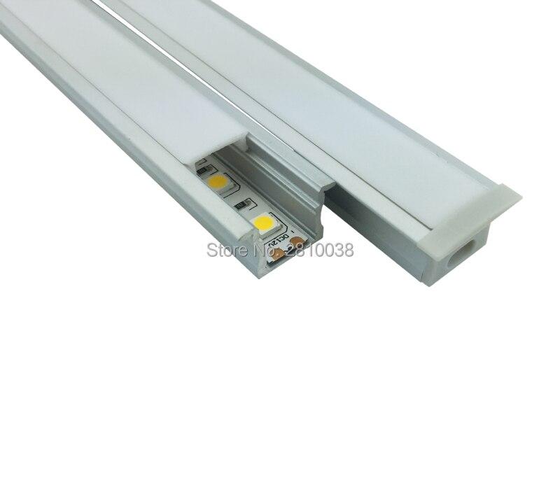 Perfil de aluminio anodizado de 50 x 1 M Sets / Lote estilo T para - Iluminación LED - foto 2