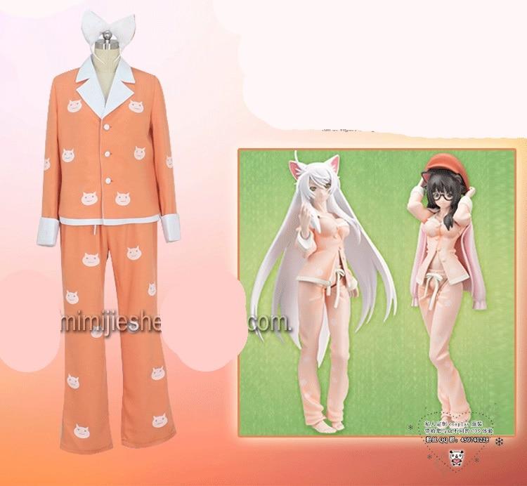 Anime Bakemonogatari Cosplay Hanekawa Tsubasa Halloween Everydajamasay Clothing Two-Piece все цены