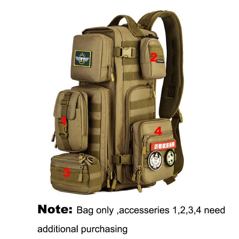 Los hombres pecho mochila hombres bolsas de un solo hombro hombre viajes grandes militares Molle bolsas al aire libre mochila XA495WA - 3
