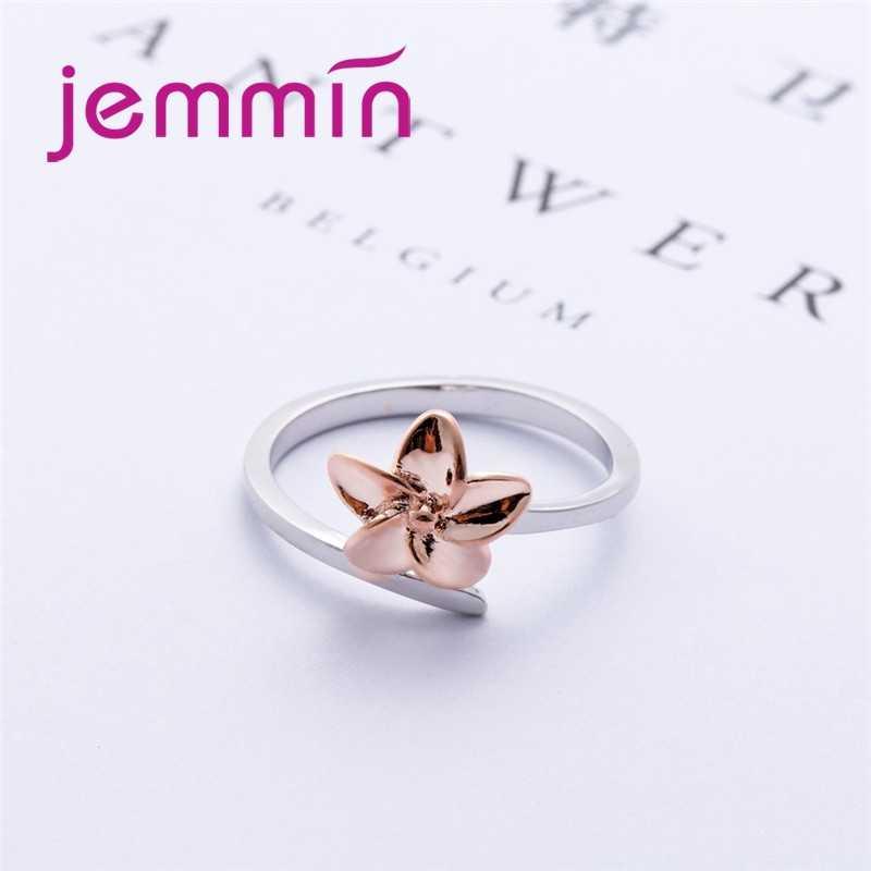 แฟชั่นคลาสสิก 925 เงินสเตอร์ลิงแหวนดอกไม้ผู้หญิงหญิงงานแต่งงานเครื่องประดับขายส่งแฟชั่นเครื่องประดับ
