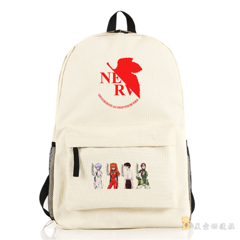 Anime Neon Genesis Evangelion EVA Printing School Backpacks Schoolbags for Teenagers Men Women Rucksack genesis genesis turn it on again the hits