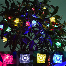 4.2M 40LED Ice Cube Light Christmas LED String Lights Fairy Bulb Garland Birthday Party Garden Wedding Curtain Decor CLH