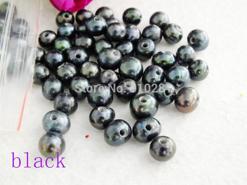 Best Sales 2mm Big Hole Freshwater Pearl 9 10mm Black potato pearl for jewelry making LK