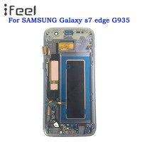 SUPER AMOLED 5,5 ''ЖК дисплей для SAMSUNG Galaxy s7 edge G935 G935F ЖК дисплей Дисплей Сенсорный экран с рамкой Бесплатная доставка