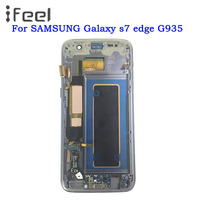 SUPER AMOLED 5.5'' LCD for SAMSUNG Galaxy s7 edge G935 G935F LCD Display Touch Screen With Frame Free Shipping