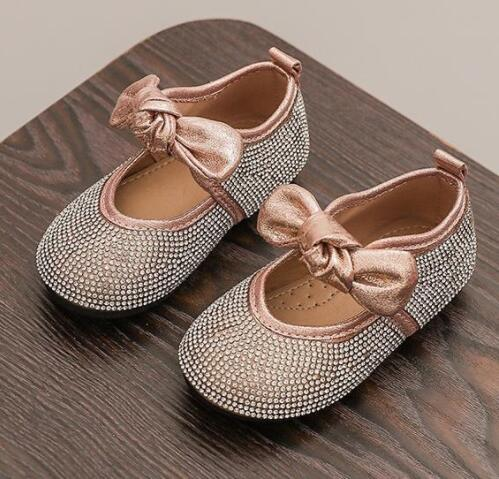 Girls Shoes New Autumn Bow Children Shoes For Girls Casual Sneakers Princess Soft Sole Baby Toddler Shoes EU 21~30
