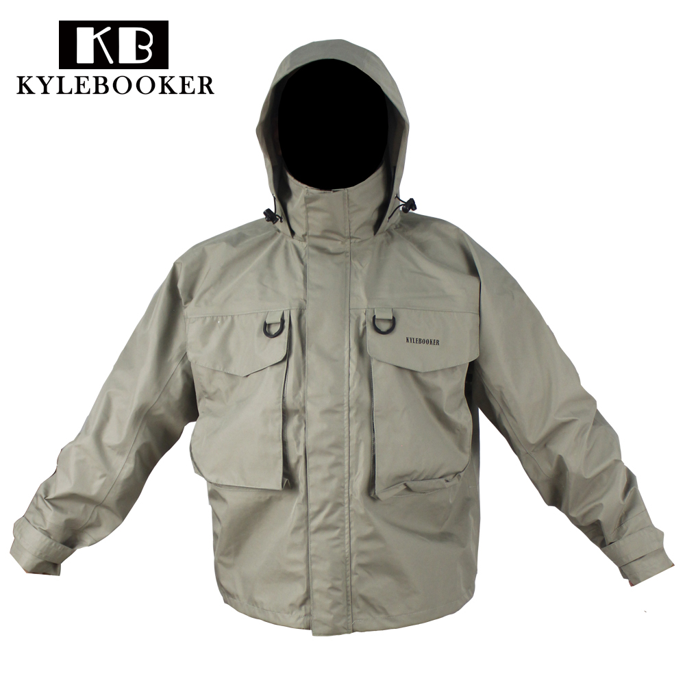 Fly fishing wading jacket breathable waterproof fishing for Waterproof fishing jacket