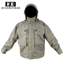 Fly Fishing Wading Jacket Breathable  Waterproof Fishing Wader Jacket Clothes Fishing Outerwear Coat