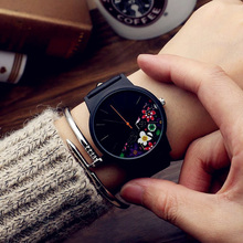 Black Flower Watch Women Watches Ladies 2017 Brand Luxury Famous Female Clock Quartz Watch Wrist Relogio Feminino Montre Femme