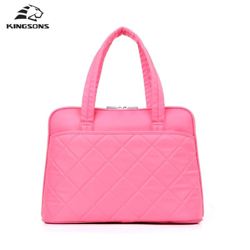 ФОТО Kingsons 14 inch Lady Handbags Shockproof High Quality Nylon Laptop Bags Women Totes Notebook Computer Bag