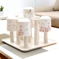 Drain Cup Holder Creative Kitchen Cups Storage Rack Creative Home Supplies Plastic Cup Holder Drain As Seen On TV