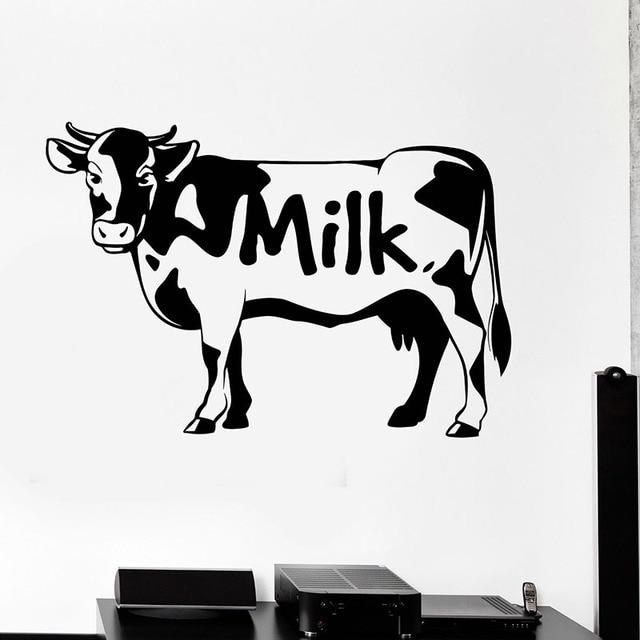 cute cow wall decals milk milky animals wall sticker dairy farm