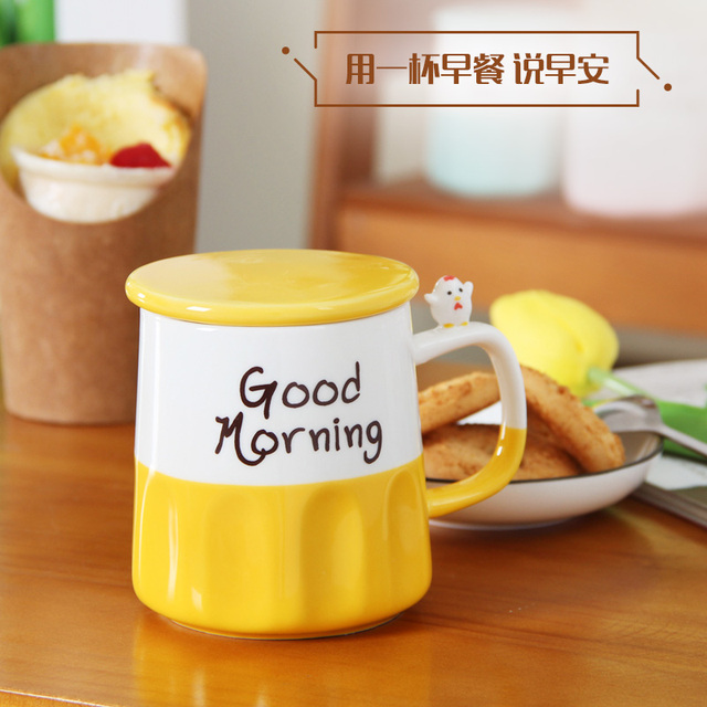 A Personalized Hot Good Morning Mug Ceramic Milk Coffee Tea Mug