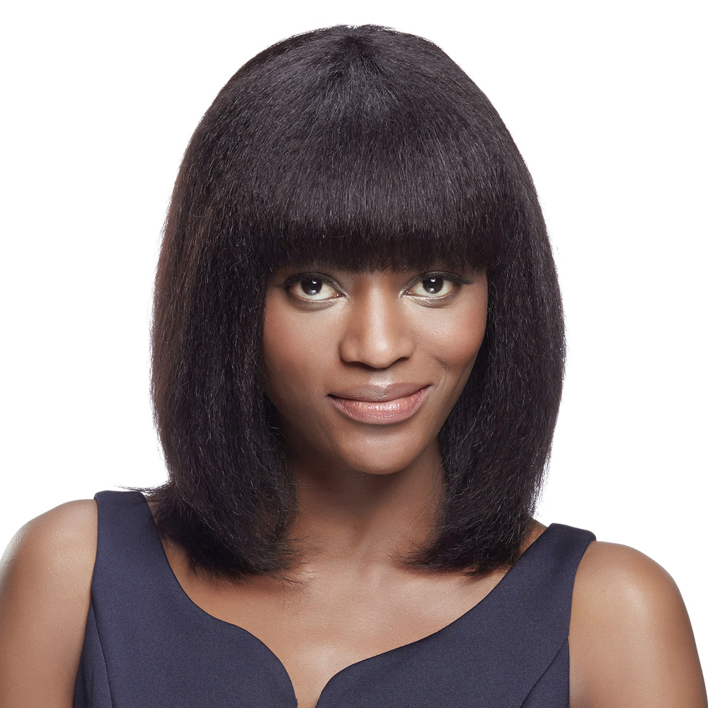 Debut Human Hair Wigs Short Wigs For Black Women Kinky Straight Color Brown Yaki Bob Wig Indian Remy Hair Free Shipping