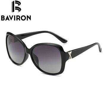 BAVIRON City Eye Tortoise Sunglasses Women Polarized Lenses Glasses Retro Sunglasses Style Gradient Colors Rays UV400 Oculos 4