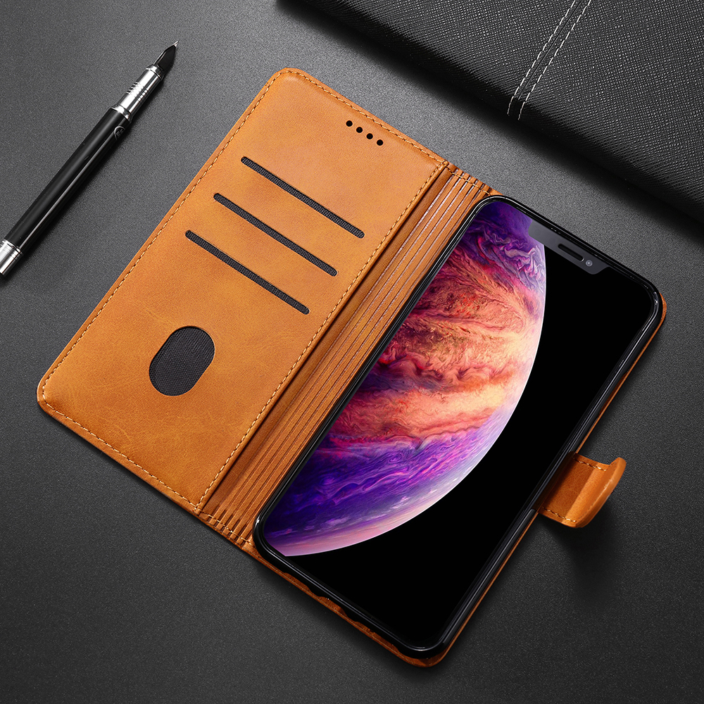 SRHE Flip Cover For Lenovo A5 Case Luxury Leather Silicone With Magnetic Wallet Case For Lenovo A5 L18011 5 45 quot Phone Cover in Flip Cases from Cellphones amp Telecommunications
