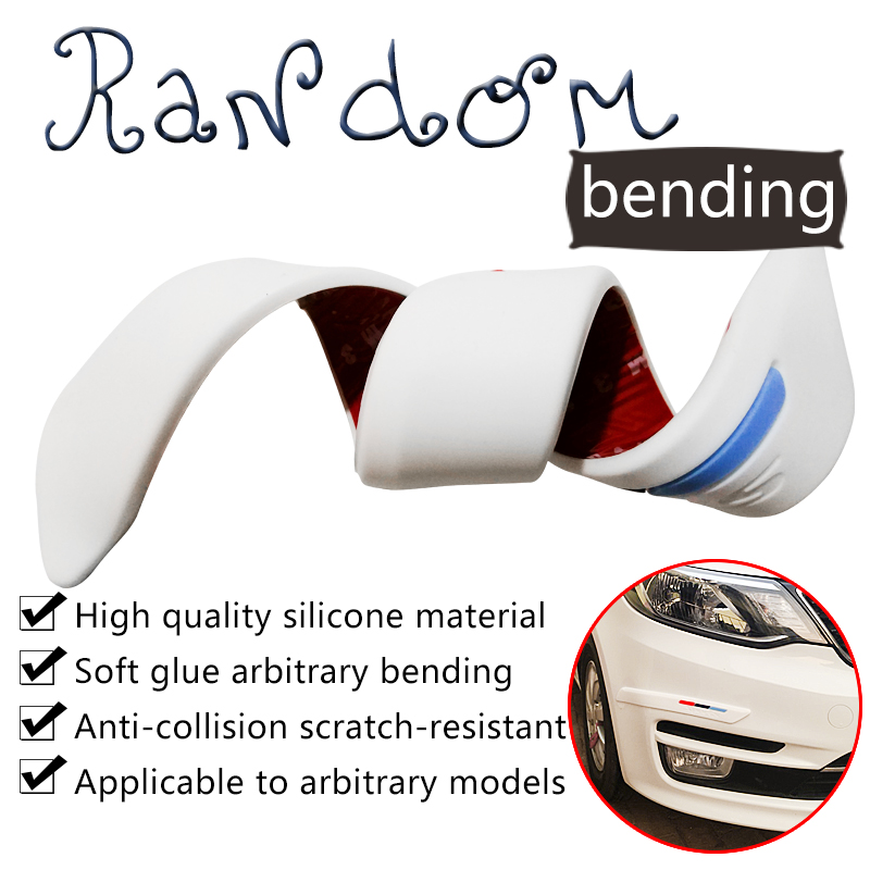 цены Car Anti-collision Strip Bumper Protector Car Crash Bar Anti-rub Bar Retail Bumper Crash Styling Moulding