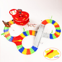 New Style DIY Assembly Set For Kids Education Magic Glow Tracks Fire Car With Bridge And