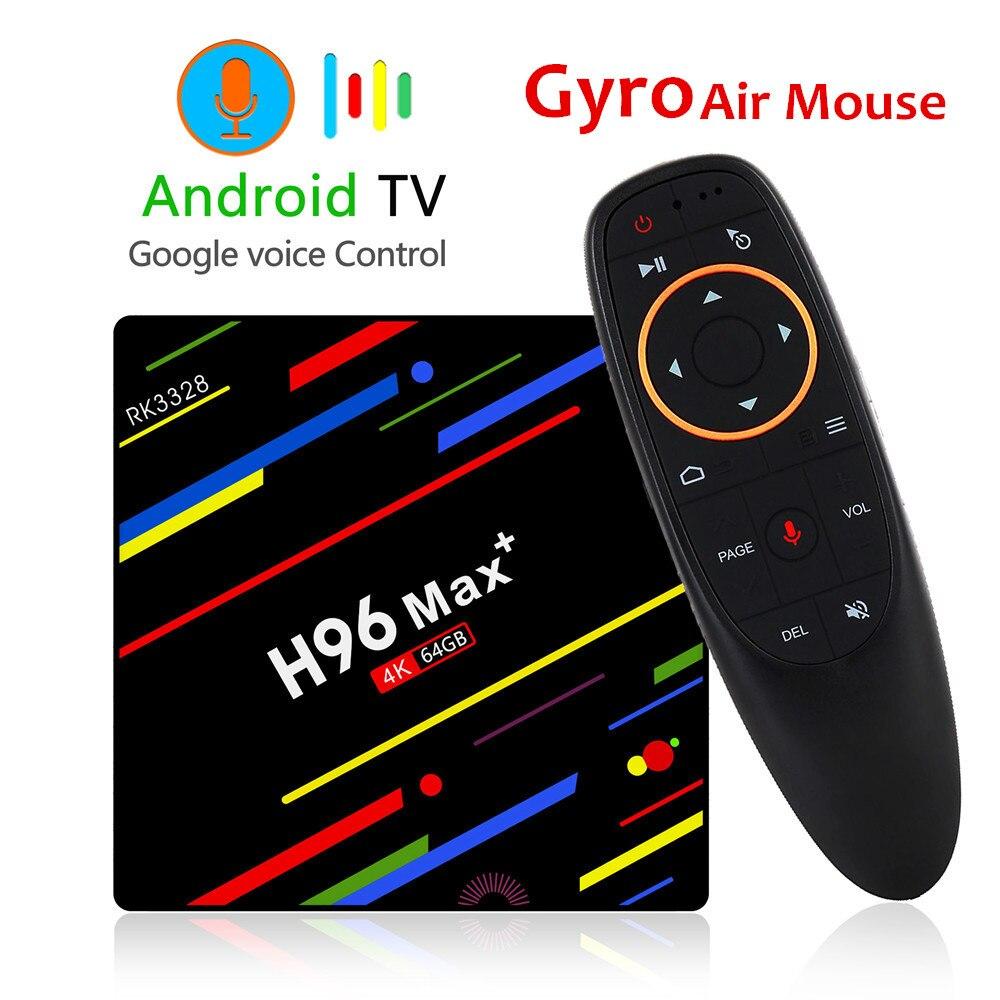 H96 מקס בתוספת טלוויזיה תיבת אנדרואיד 8.1 4 GB 32 GB 64 GB חכם RK3328 Quad core 5G Wifi 4 K H.265 מדיה נגן H96 פרו H2 מיני