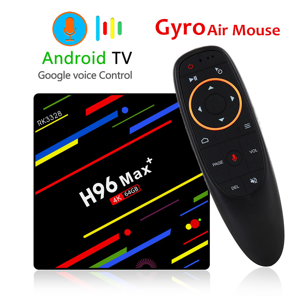 H96 MAX плюс ТВ Box Android 8,1 4 ГБ, 32 ГБ, 64 ГБ Smart Декодер каналов кабельного телевидения RK3328 Quad core 5G Wi-Fi 4 K H.265 Media Player H96 Pro H2 мини