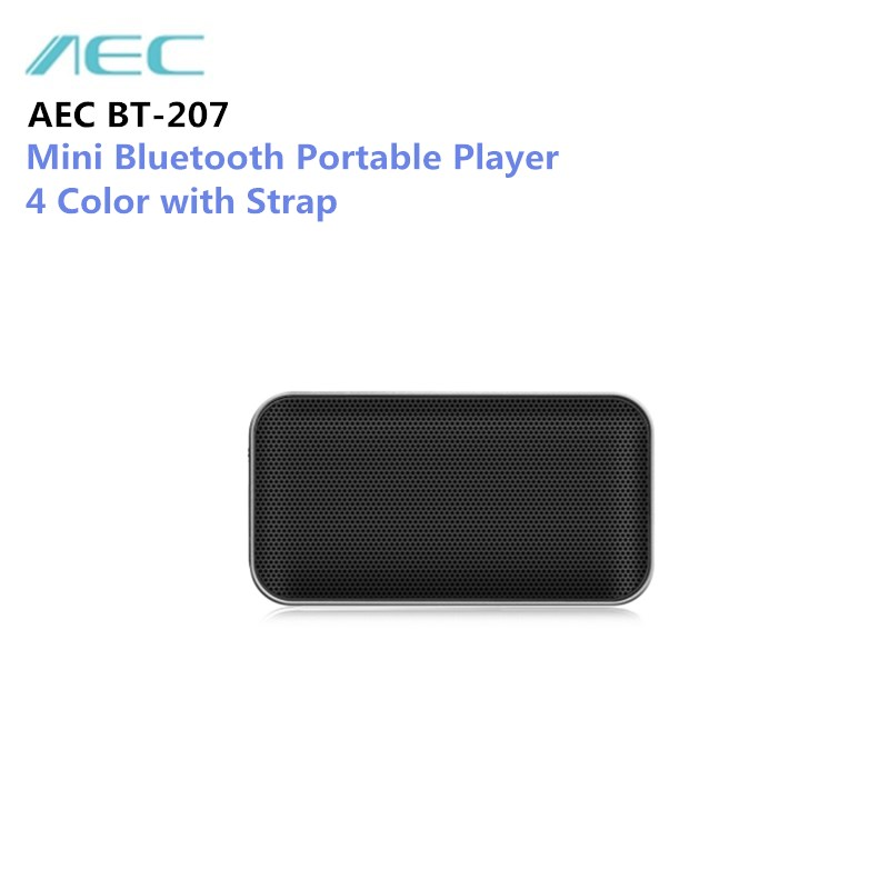 AEC BT-207 Mini Bluetooth Speaker Portable Wireless Handsfree Loudspeaker with Built-in Microphone for Smartphone