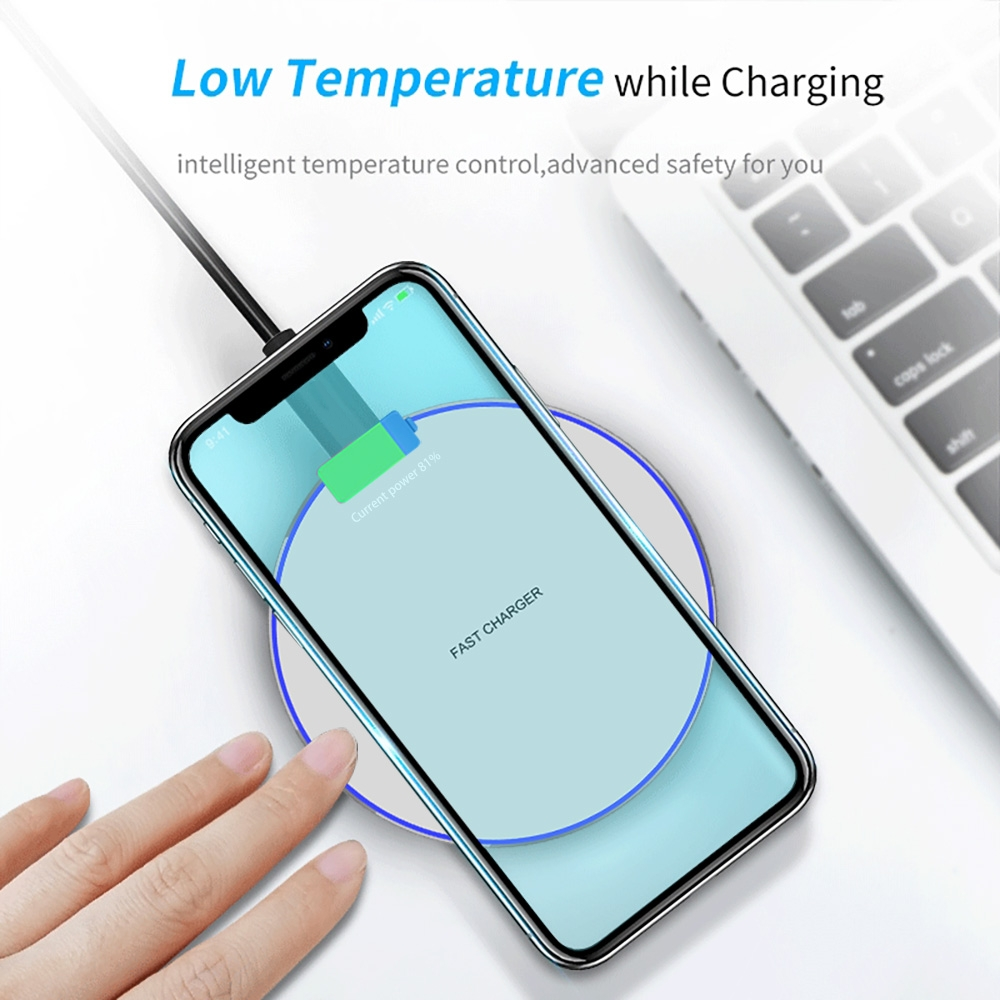 FDGAO 10W Fast Wireless Charger For Samsung Galaxy S10 S9 S9 S8 Note 9 USB Qi