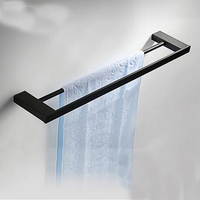 Wholesale And Retail Luxury Solid Brass Bathroom Towel Rack Holder Dual Towel Bar Hangers Oil Rubbed