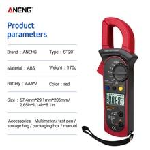 ANENG ST201 токовые клещи мультиметр клещи токоизмерительные тестер цифровой мультиметр клещи постоянного тока токовые клещи для осцылографа съемник transistor capacitor tester амперметр цифровой тестер с клещами