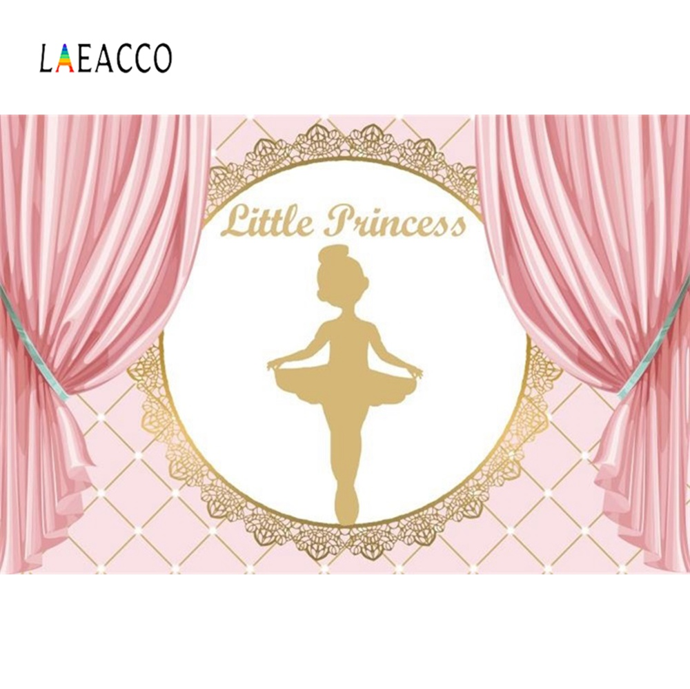 Princess Backgrounds Pink Ballet Dancing Girl Baby Birthday Party Poster Portrait Photography Backdrops Photocall  Photo Studio