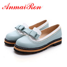 ENMAYER 2016new women fashion sweet style round toe low heel casual flats shoes wedding partybig size 34-43 bow ballerina