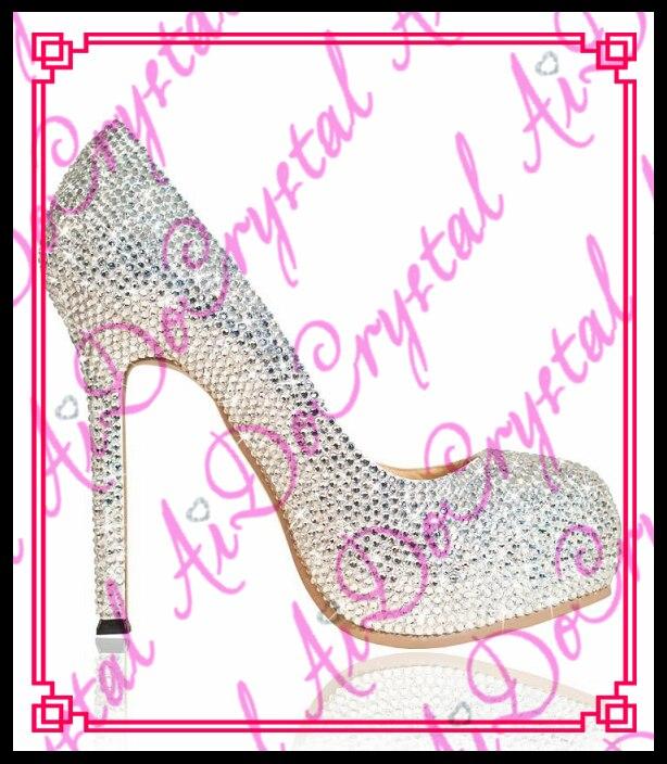 Aidocrystal font b women b font font b shoes b font pumps handmade female noble diamond