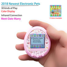 2018 newest 90s Color display Tamagochi nostalgic game machine electronic virtual cyber elves of pet Color screen pet game Toy(China)