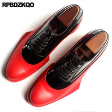 Italy Italian Genuine Leather Runway Men Black And White Dress Shoes High Quality Cowhide Brand Oxfords Prom Large Size European