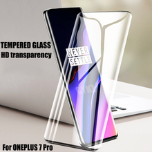 GYKZ curved surface Tempered glass For ONEPLUS 7 PRO Anti Blu-ray Explosion-proof Screen Protective Glass Film For ONEPLUS 7 PRO