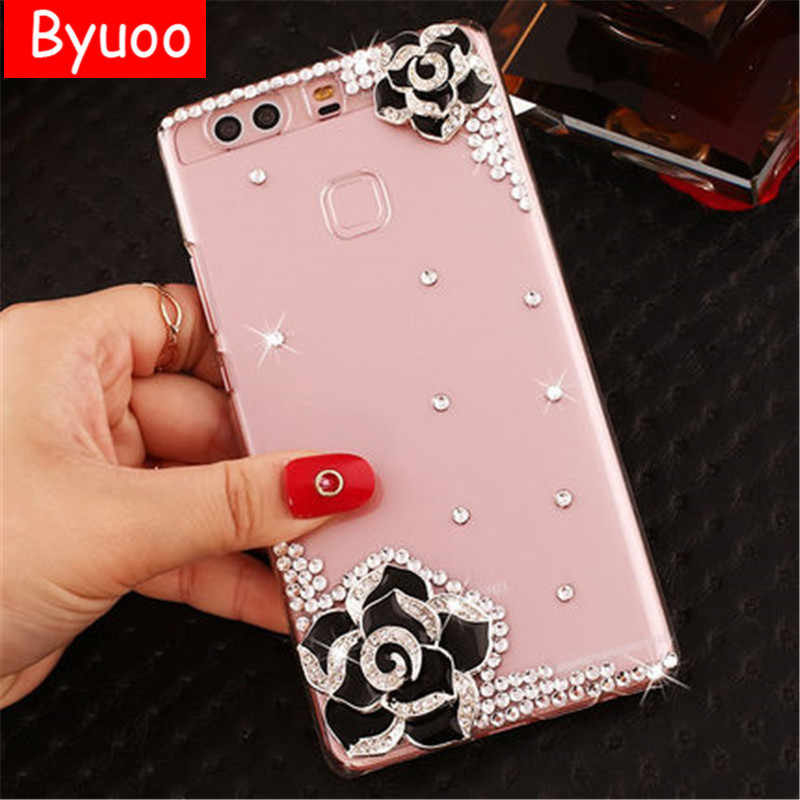 Crystal Diamond Case for Huawei P8 Lite p9 lite 2017 3d bling Cover for Huawei  Honor 01162654d4be