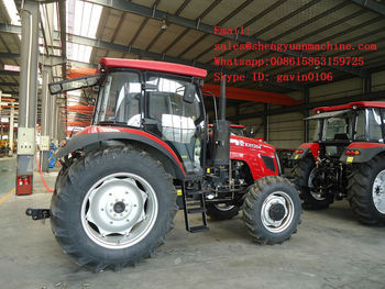 Linia produkcyjna dużego ciągnik rolniczy 130hp tanie i dobre opinie Przyczepa farm working tractor 2000kg 2 3m 3 6m steel 1 7m OKEAH 1304 Vertical Water Cooled and 4-stroke