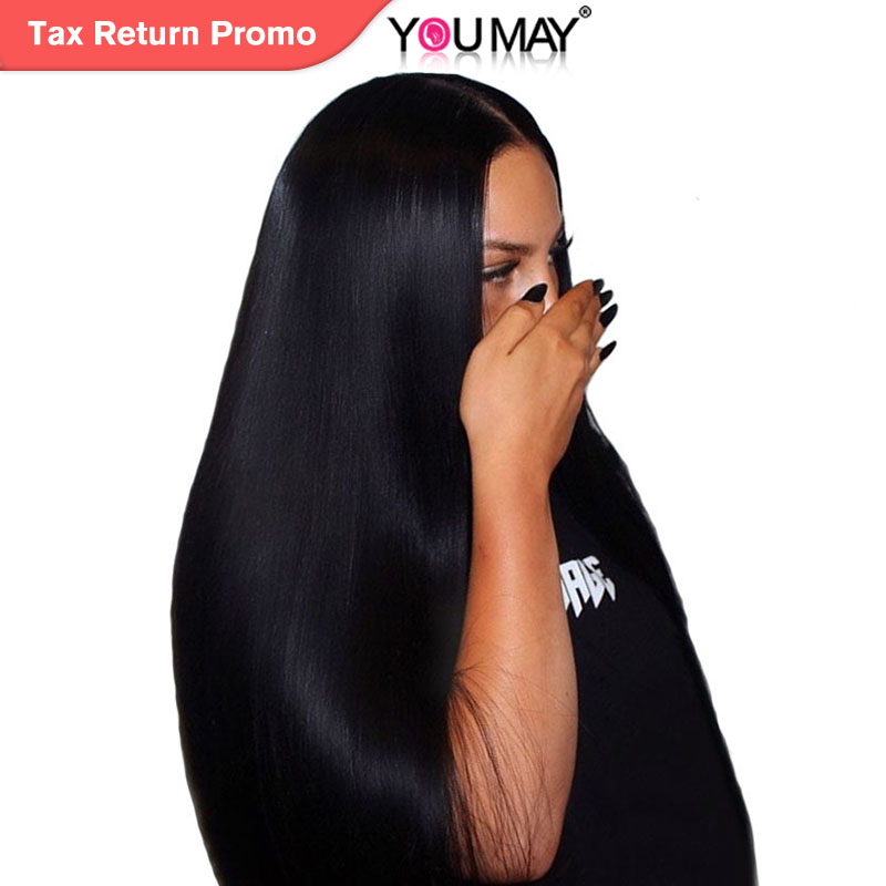 13x4 Lace Front Human Hair Parykker For Women Natural Black 250% - Menneskehår (sort)