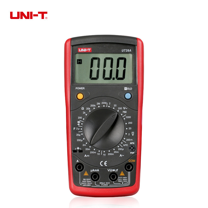 UNI-T UT39A Digital Multimeter Auto range AC/DC Voltmeter Current Resistance Capacitance Tester цена