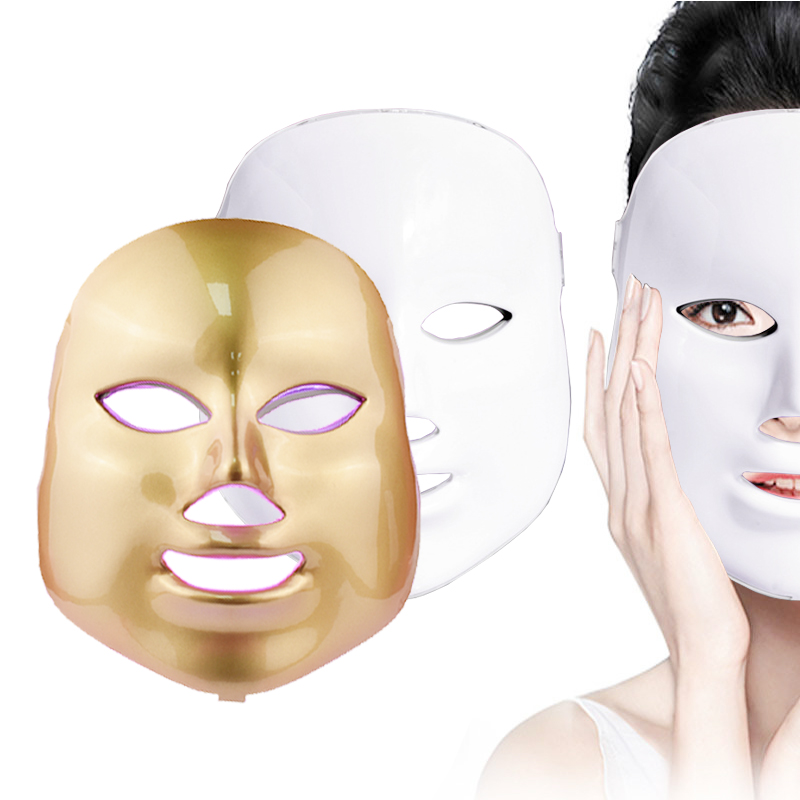 Photodynamic 7 Color LED Mask Facial Care Anti-Wrinkle Machine Acne Removal Beauty Device Skin Rejuvenation White Face Masker 2017 electric facial natural fruit milk mask machine automatic face mask maker diy beauty skin body care tool include collagen