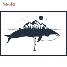 Yeele Seascape Sun Mount Seagull Whale Room Decor Photography Backdrops Personalized Photographic Backgrounds For Photo Studio