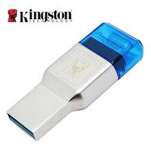 Kingston مايكرو قارئ البطاقات SD USB 3.0 3.1 نوع C قارئ بطاقة الذاكرة المزدوجة منفذ USB مايكرو SD محول للهاتف المحمول ملحقات