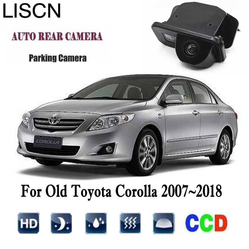 Rearview Camera For Old Toyota Corolla 2007~2018 2011 2012 2013 2015 2017 CCD Night Vision Rear View Camera License Plat Camera
