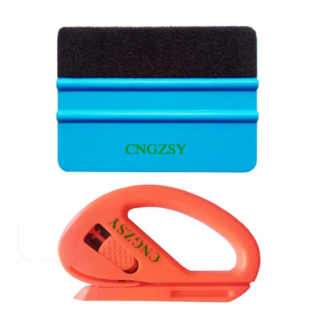 Auto Car Window Vinyl Film Wrap Installation Application Tool Art knife Kit 3M Felt Squeegee Scraper Safety Snitty Cutter K02
