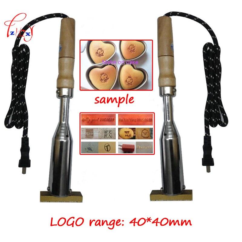 Machine de marquage à chaud de marque de marque machine de marquage à chaud de marque LOGO en cuir en relief machine de gaufrage de marquage en bois 40*40 MM