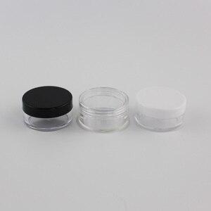 Image 1 - 10g X 100 Trống Rỗng Nhựa Đựng Mỹ Phẩm Size Nhỏ Đựng Chai Lọ Đựng Trong Suốt Cho Lưu Trữ Trong Suốt Kem Tín Nồi Cho Da kem Móng Nghệ Thuật
